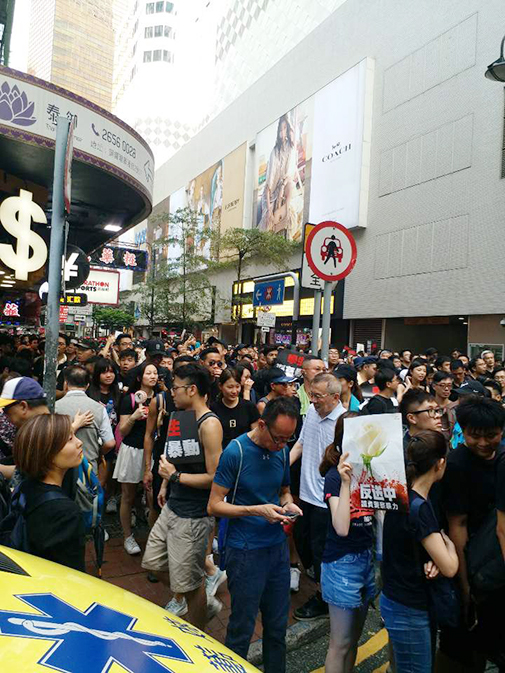 March for Pro-Democracy Movement in Hong Kong Continues